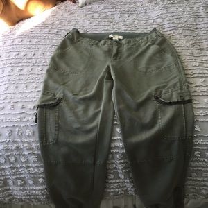 Army green Anthro pants with cuffs